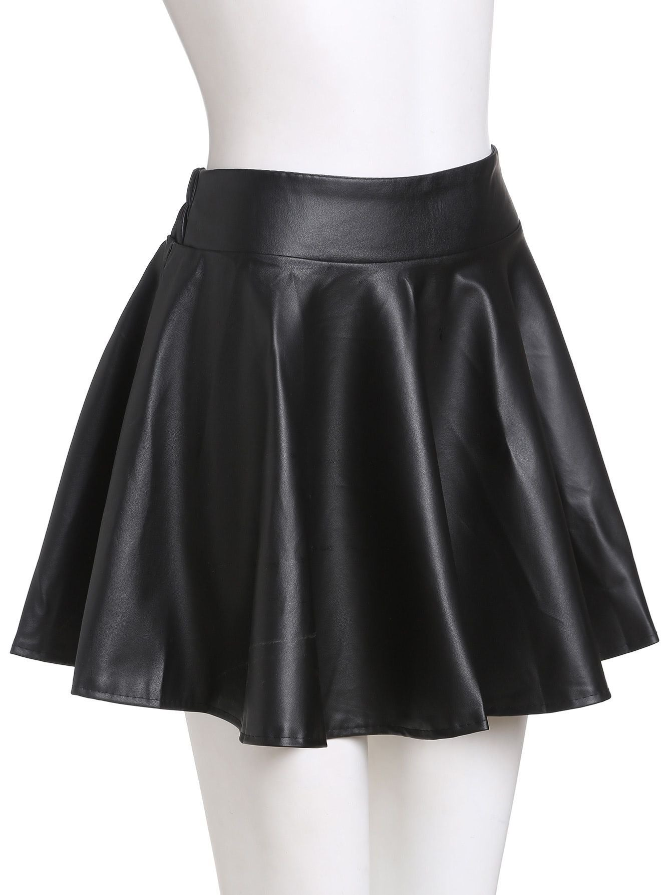 Red Lips Leather Skirt - Girls