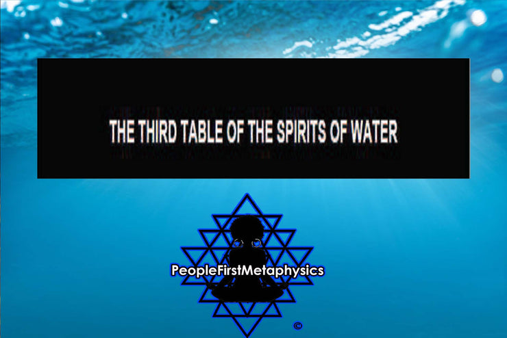 Third Table of the Spirits of Water from the 6th & 7th Books of Moses #Seals #Moses #Magic #Hebrew #Enochian Magick