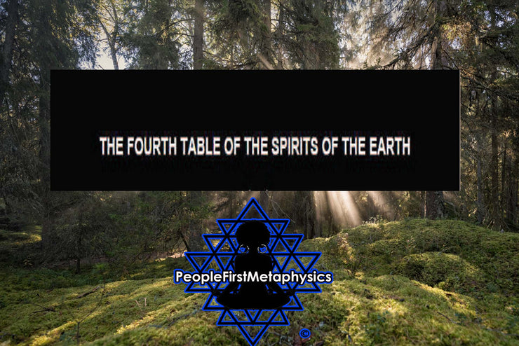 Fourth Table of the Spirits of The Earth from the 6th & 7th Books of Moses #Seals #Moses #Magic #Hebrew #Enochian Magick