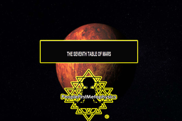 Seventh Table Planetary Seal of Mars from the 6th & 7th Books of Moses #Seals #Moses #Magic #Hebrew #Enochian Magick