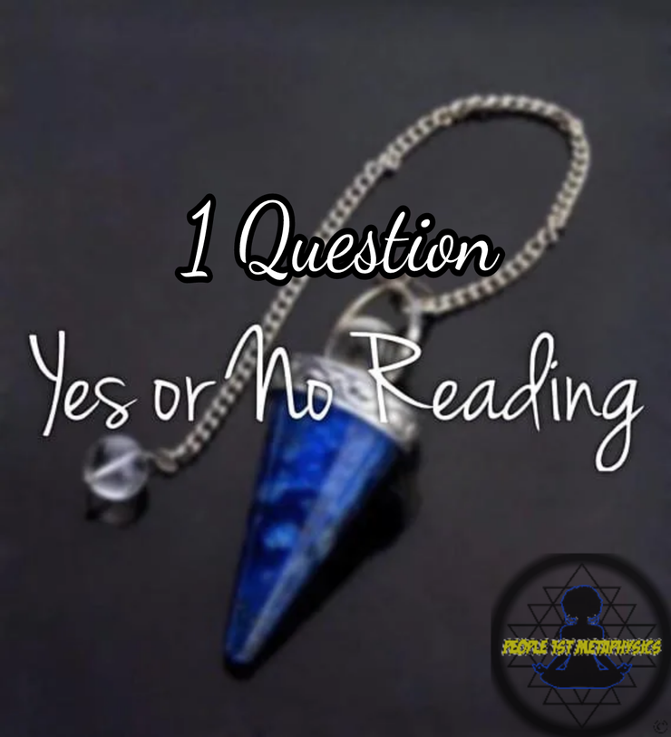 Ask any yes or no question (1 question) & 1 Card Tarot Pull #PsychicReadings #People1stMetaPhysics #PendulumReadings #EnergyReadings
