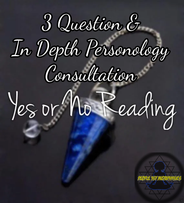 Ask any yes or no question (3 questions) Personology and Mystic Consultation  #PsychicReadings #People1stMetaPhysics #PendulumReadings #EnergyReadings