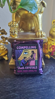 "LuckyMojoCurioCo ""Compelling"" Bath Crystals #Great Deal #BathCrystal #SpiritBath #CleansingRituals #RitualMagick"
