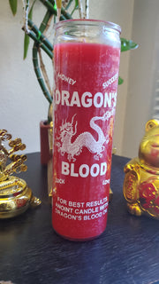 Dragons Blood 7 Day Luck Candle** #SpellCandle #RootWork #conjure #MoneyMagick #LuckDrawing #AltarMagick