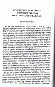 African Presence in Early Eastern Asia