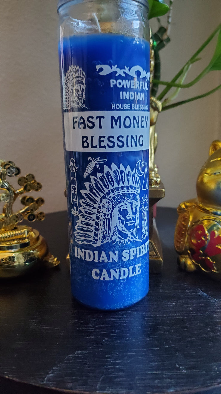Indian Spirit Candle / Fast Money Blessing #Curio #ChakraHealing #Curio #CandleMagick #Cleansing #MoneyMagick #SpiritMagick