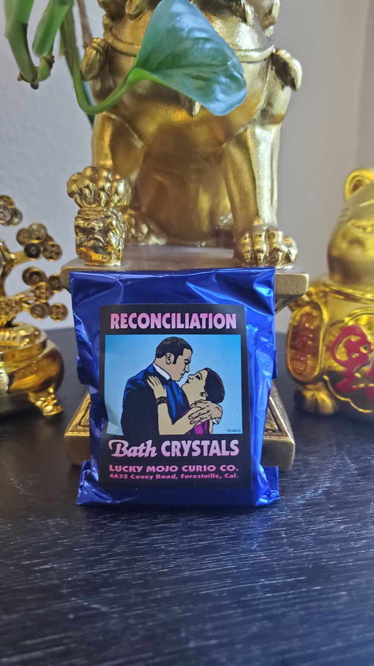 "LuckyMojoCurioCo ""Reconciliation"" Bath Crystals #Great Deal #BathCrystals #SpiritBath #CleansingRituals #RitualMagick"