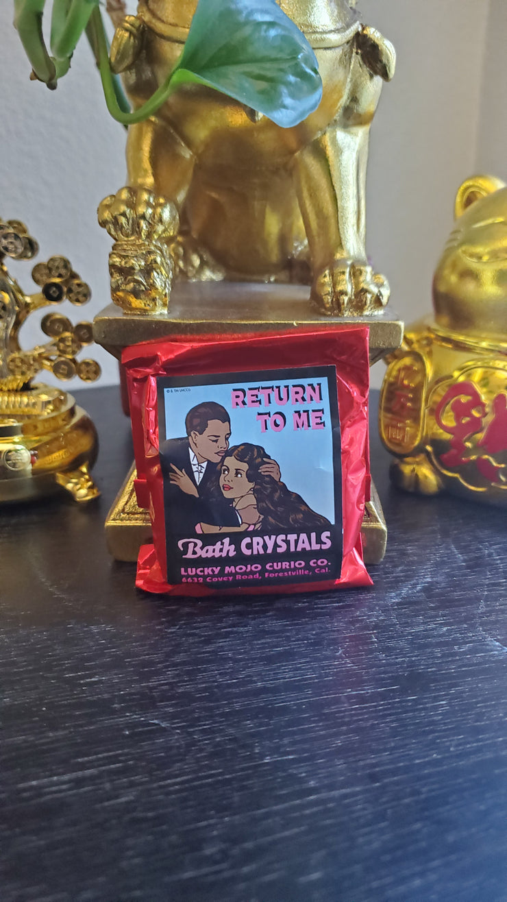 "LuckyMojoCurioCo ""Return To Me"" Bath Crystals #Great Deal #BathCrystals #SpiritBath #CleansingRituals #RitualMagick"