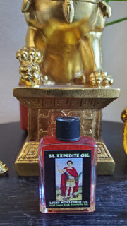 "LuckyMojoCurioCo ""St. Expedite Oil"" Anointing / Conjure Oil #Great Deal #LuckyMojoCurioCo #LuckyMojo #EffectiveOils #MoneyMagickOil"