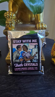 "LuckyMojoCurioCo ""Stay With Me"" Bath Crystals #Great Deal #BathCrystal #SpiritBath #CleansingRituals #RitualMagick #ChanceMagick"