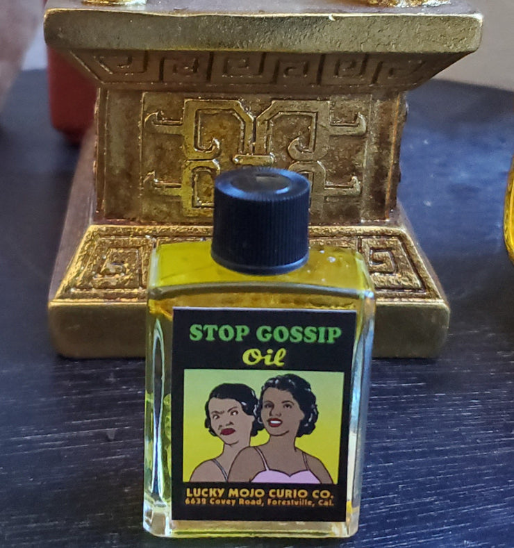 #LuckyMojoCurioCo Stop Gossip Anointing / Conjure Oil #Great Deal