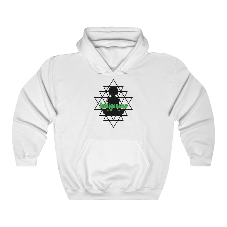 """Indigenious"" Unisex Heavy Blend™ Hooded Sweatshirt #TurtleIsland #Indigenous #JohnHansen #Moorish"