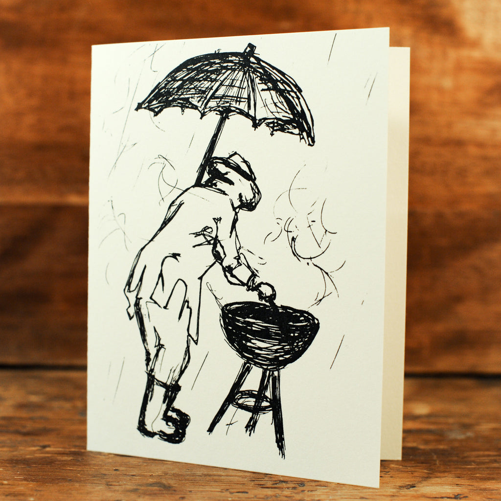 Grilling in the Rain Card Set