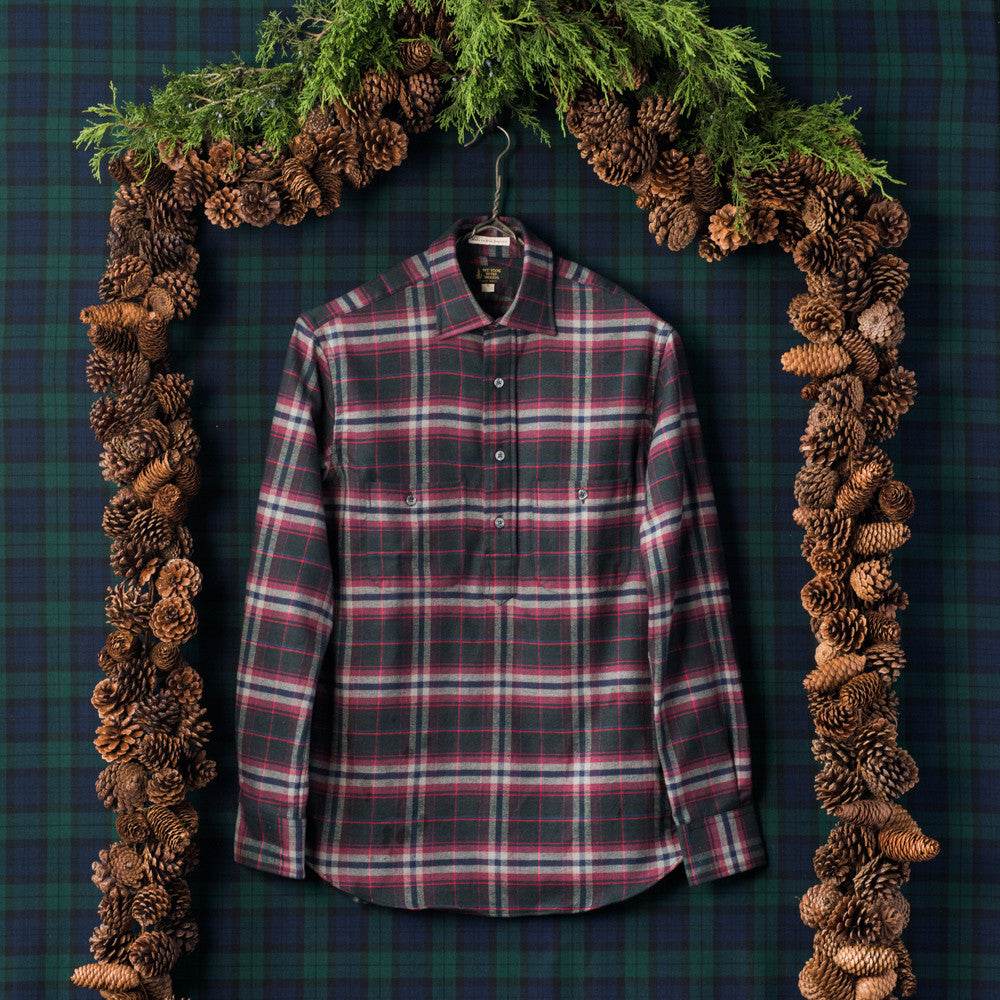 The Cedar Run - Coal Plaid Flannel - Men