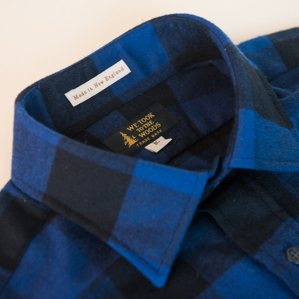 The Cedar Run- Cobalt Buffalo Plaid - Men's