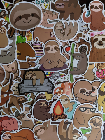 Lazy Sloth Sticker Pack