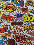 Comic Pop Words Theme Sticker Pack