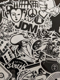 Black and White Random Stickers