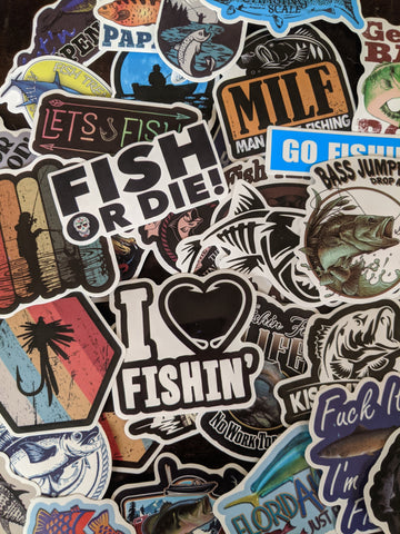 Fisherman Angler Sticker Pack
