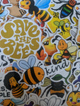 Save The Bees Sticker Pack