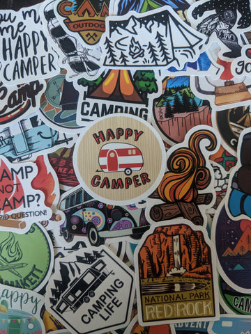 Happy Camper Sticker Pack