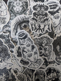 Black & White Devilish Girls Sticker Pack