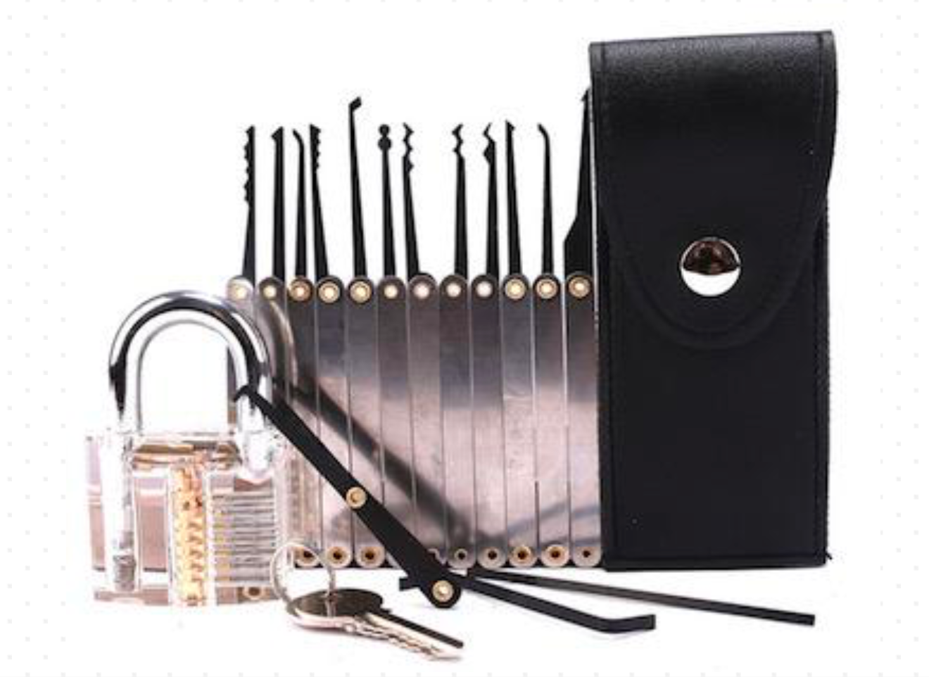 12 pcs hook pick with padlock - Lock Pick Set