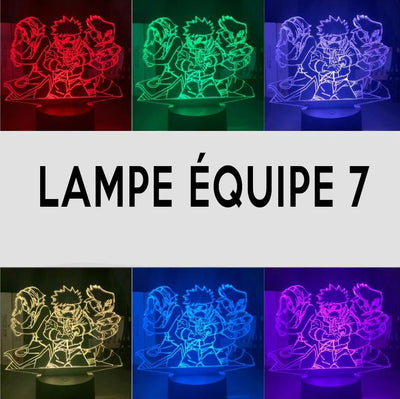 Lampe LED 3D Naruto Couleurs