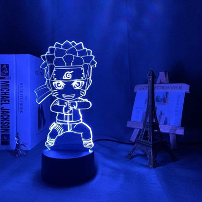 Lampe Naruto 3D Bleue Claire