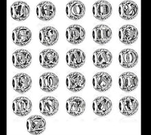 Load image into Gallery viewer, 💎💝STERLING SILVER 925💎💝Vintage Letter Charms A-Z +Pouch-C/PAN69
