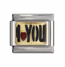 Load image into Gallery viewer, I LOVE YOU -ITALIAN-Charm-Fits Nomination- NEW in Gift Pouch (nc29)