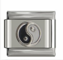 Load image into Gallery viewer, YING & YANG -ITALIAN-Charm-Fits Nomination- NEW in Gift Pouch nc101
