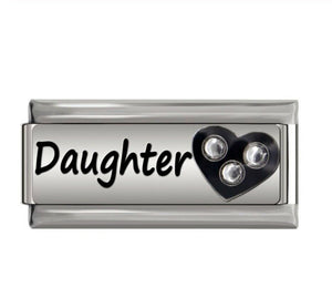 DAUGHTER -ITALIAN-Charm-Fits Nomination- NEW in Gift Pouch