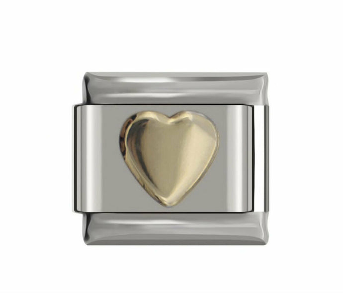HEARTS OF GOLD  -ITALIAN-Charm-Fits Nomination- NEW in Gift Pouch -NC53