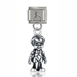 ITALIAN - PINNOCHIO -Charm-Fits Nomination- NEW in Gift Pouch -NC39