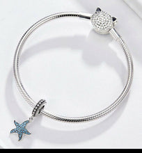 Load image into Gallery viewer, 💎💝STERLING SILVER 925💎💝BLUE OCEAN STARFISH Charm+Pouch-C/PAN22