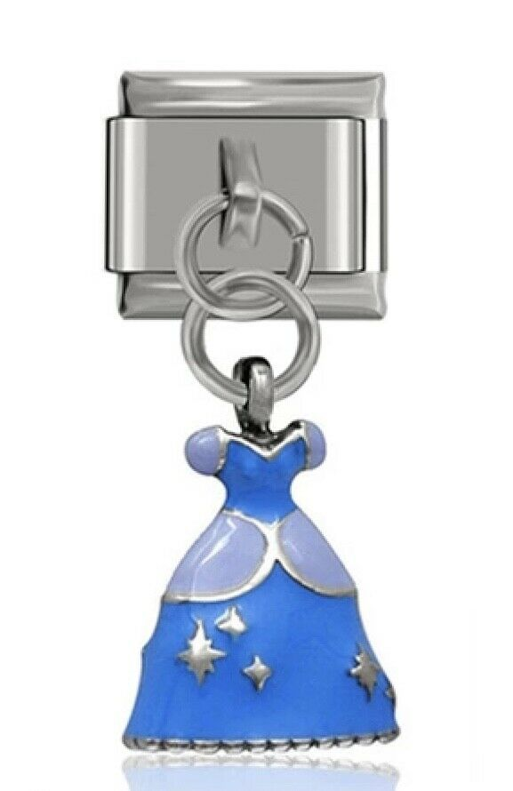 CINDERELLA - ITALIAN-Charm-Fits Nomination- NEW in Gift Pouch (nc17)