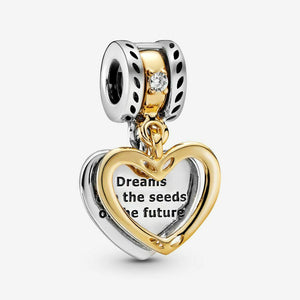 💎💝STERLING SILVER 925💎💝Seeds of the Future Split CHARM+Pouch-C/PAN45