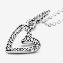 Load image into Gallery viewer, 💎💝STERLING SILVER 925💎Sparkling Freehand Heart Pendant Necklace+Pouch-N/PAN05