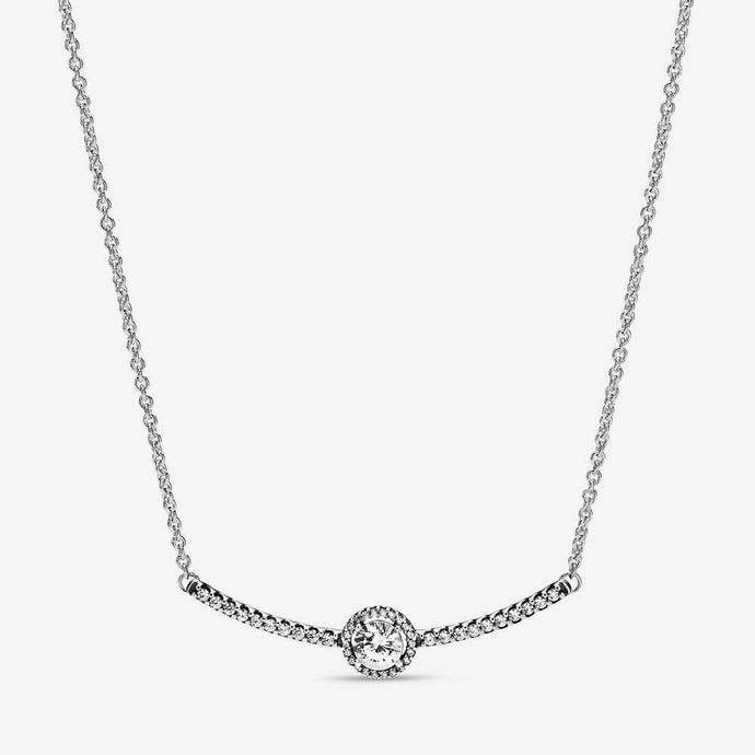 💎💝STERLING SILVER 925💎💝Round Sparkle Necklace+Pouch-N/PAN03