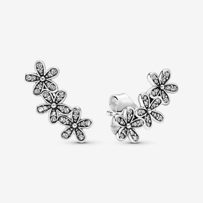 💎STERLING SILVER 925 HALLMARKED💎Daisy Flower Cluster Stud Earrings (E/PAN09)