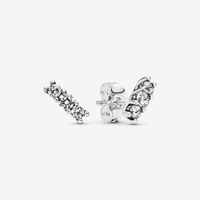 💎STERLING SILVER 925 HALLMARKED💎Sparkling Stud CZ Earrings -E/PAN14