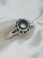 Load image into Gallery viewer, 💍STERLING SILVER 925 💍  Small Round Handmade Ring w/Labradorite -R/H11