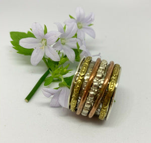 🎁💍STERLING SILVER 925🎁💍Beautiful Handmade Spinning Stress Relief Ring-R/H25