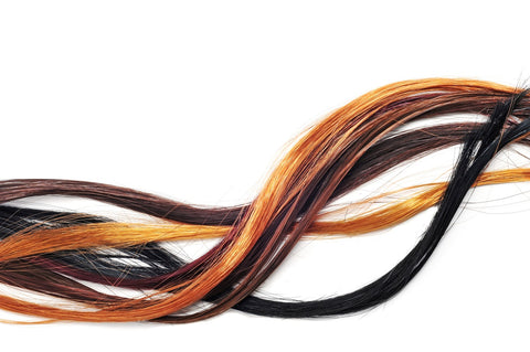 Multicolor hair extensions