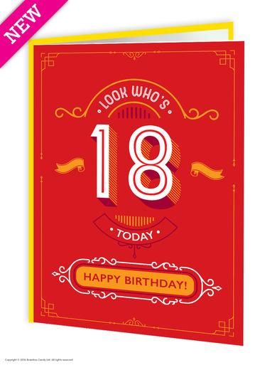 18th Birthday Greeting Card - WoW Balloons Direct