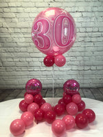Pink Age 30 Happy Birthday Package - WoW Balloons Direct