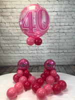 Pink Age 40 Happy Birthday Package - WoW Balloons Direct