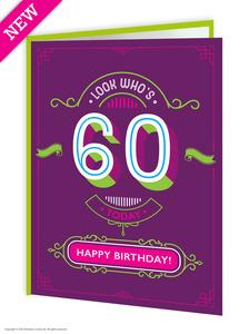 60th birthday greeting card - WoW Balloons Direct