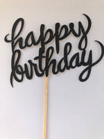 Cake Topper - Happy Birthday (Hand Made) - WoW Balloons Direct